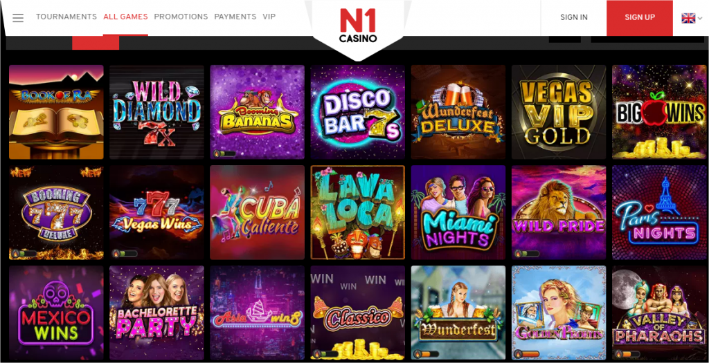 N1 Casino - Book Of Dead and other Slots