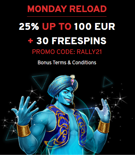 N1 Casino Promo Code on 30 Free Spins - Monday Reload