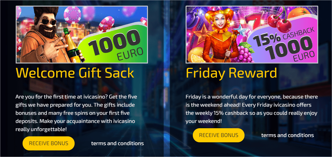 IVI casino bonuses