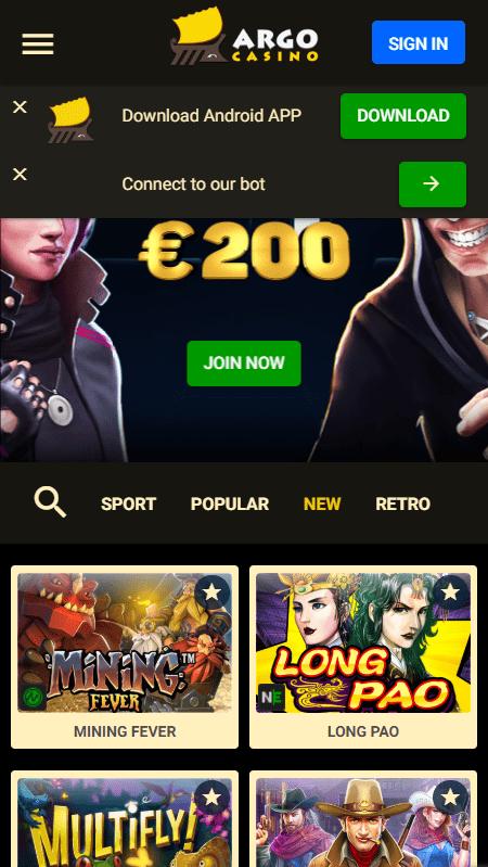 Argo Casino Promo Code