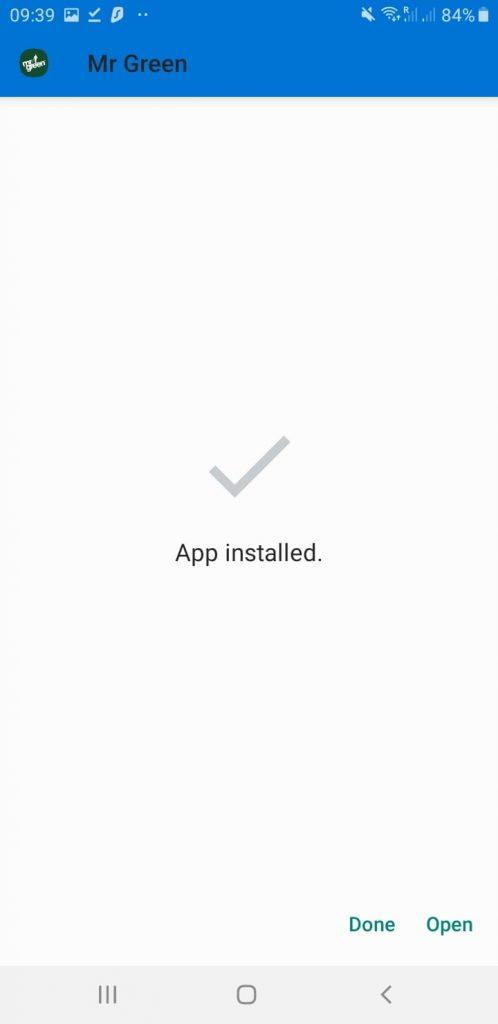 App Has been installed