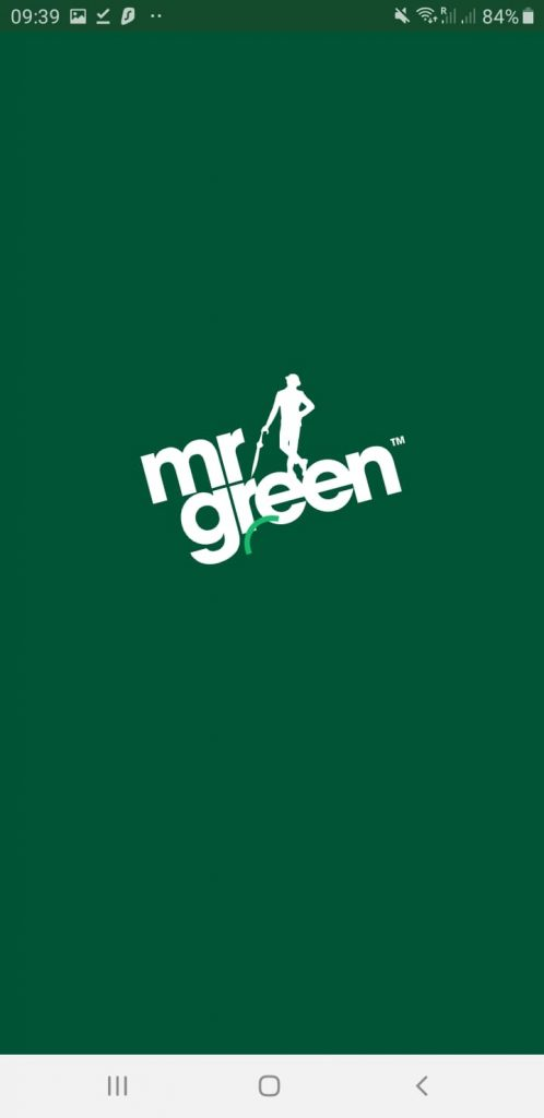 Mr Green Splash Screen