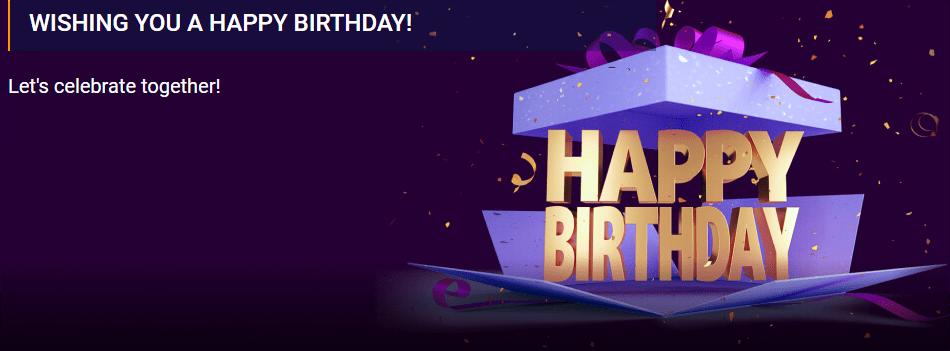 Happy Birthday Bonus